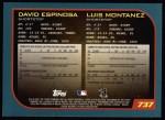 2001 Topps #737  Luis Montanez / David Espinosa  Back Thumbnail