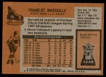 1975 Topps #15  Frank St.Marseille   Back Thumbnail