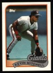 1989 Topps #189  Kevin Mitchell  Front Thumbnail