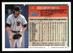 1994 Topps #146  Rod Beck  Back Thumbnail