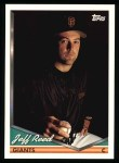 1994 Topps #291  Jeff Reed  Front Thumbnail