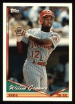 1994 Topps #428  Willie Greene  Front Thumbnail