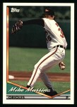 1994 Topps #598  Mike Mussina  Front Thumbnail