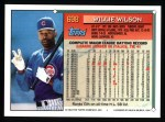 1994 Topps #698  Willie Wilson  Back Thumbnail