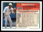 1994 Topps #705  Jose Rijo  Back Thumbnail