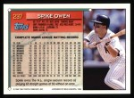 1994 Topps #297  Spike Owen  Back Thumbnail