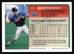 1994 Topps #344  Sean Berry  Back Thumbnail