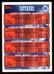 1994 Topps #686  Carlos Delgado  /  Jason Kendall  Back Thumbnail