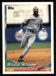 1994 Topps #698  Willie Wilson  Front Thumbnail