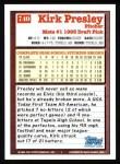 1994 Topps #740  Kirk Presley  Back Thumbnail
