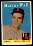 1958 Topps #410  Murray Wall  Front Thumbnail