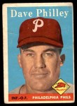 1958 Topps #116  Dave Philley  Front Thumbnail
