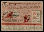 1958 Topps #242  Johnny Klippstein  Back Thumbnail