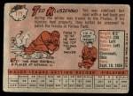 1958 Topps #178  Ted Kluszewski  Back Thumbnail