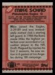1990 Topps #100  Mike Schad  Back Thumbnail