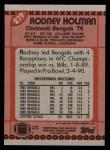 1990 Topps #279  Rodney Holman  Back Thumbnail