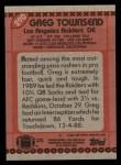 1990 Topps #290  Greg Townsend  Back Thumbnail