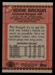 1990 Topps #272  Eddie Brown  Back Thumbnail