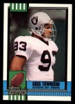 1990 Topps #290  Greg Townsend  Front Thumbnail