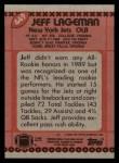 1990 Topps #449  Jeff Lageman  Back Thumbnail