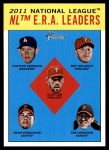 2012 Topps Heritage #5   -  Clayton Kershaw / Roy Halladay / Cliff Lee / Ryan Vogelsong / Tim Lincecum Leaders Front Thumbnail