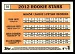 2012 Topps Heritage #54   -  John Gaub / Addison Reed / Adron Chambers / Dellin Betances Rookies Back Thumbnail