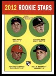 2012 Topps Heritage #54   -  John Gaub / Addison Reed / Adron Chambers / Dellin Betances Rookies Front Thumbnail