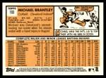 2012 Topps Heritage #103  Michael Brantley  Back Thumbnail