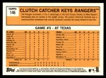 2012 Topps Heritage #146   -  Mike Napoli World Series Game #5 - Clutch Catcher Keys Rangers Back Thumbnail