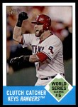 2012 Topps Heritage #146   -  Mike Napoli World Series Game #5 - Clutch Catcher Keys Rangers Front Thumbnail