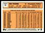 2012 Topps Heritage #296  Jim Thome  Back Thumbnail