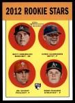 2012 Topps Heritage #362   -  Matt Dominguez / Chris Schwinden / Joe Savery / Brad Peacock Rookies Front Thumbnail
