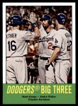 2012 Topps Heritage #412   -  Matt Kemp / Andre Ethier / Clayton Kershaw Dodgers Big Three Front Thumbnail