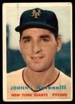 1957 Topps #105  Johnny Antonelli  Front Thumbnail