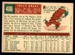 1959 Topps #406  Solly Drake  Back Thumbnail