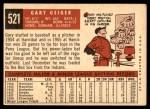 1959 Topps #521  Gary Geiger  Back Thumbnail