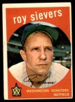 1959 Topps #340  Roy Sievers  Front Thumbnail