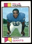 1973 Topps #106  Willie Young  Front Thumbnail