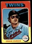 1975 Topps #297  Craig Kusick  Front Thumbnail