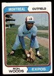 1974 Topps #377  Ron Woods  Front Thumbnail
