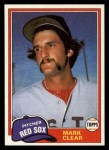 1981 Topps Traded #748 T Mark Clear  Front Thumbnail