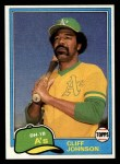 1981 Topps Traded #776 T Cliff Johnson  Front Thumbnail