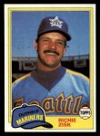 1981 Topps Traded #857 T Richie Zisk  Front Thumbnail