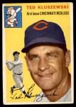 1954 Topps #7 WHT Ted Kluszewski  Front Thumbnail