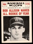 1961 Nu-Card Scoops #466   -  Bob Allison Bob Allison Named AL Rookie of Year Front Thumbnail