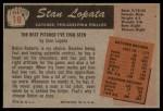 1955 Bowman #18  Stan Lopata  Back Thumbnail