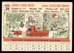 1956 Topps #39  Don Mossi  Back Thumbnail