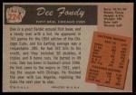 1955 Bowman #224  Dee Fondy  Back Thumbnail