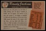 1955 Bowman #87  Randy Jackson  Back Thumbnail