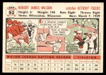 1956 Topps #92  Red Wilson  Back Thumbnail
